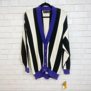 NWT Vtg Liz Sport Over-sized Knit Cardigan (A17)
